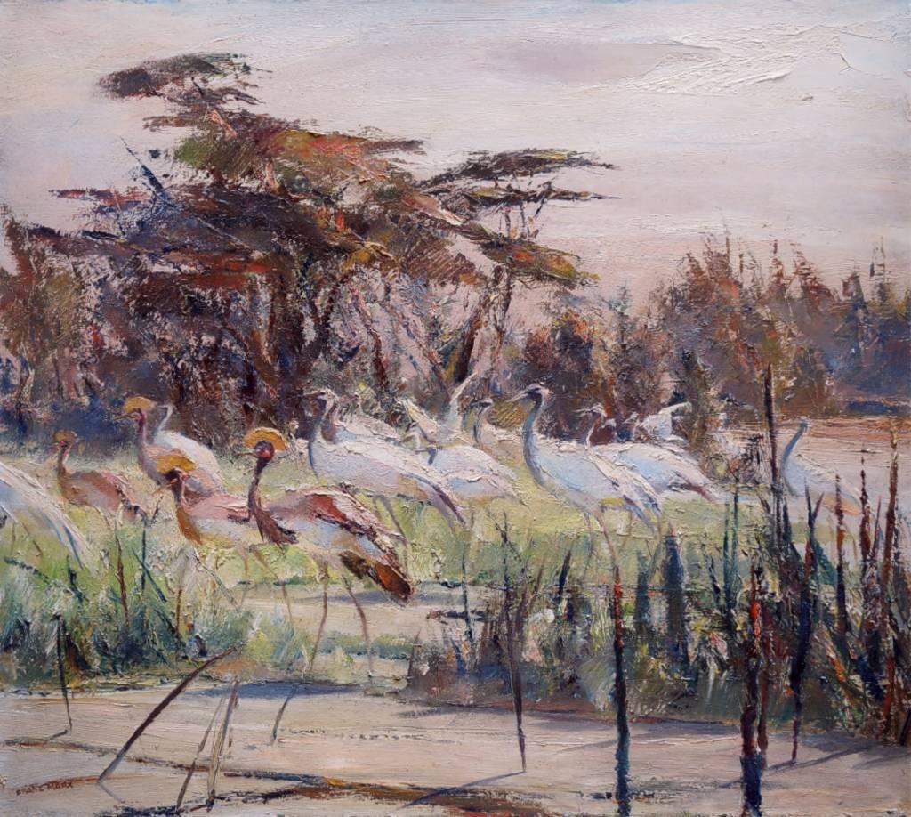 Franz Marx (1889 - 1960)  » Öl-Gemälde Spät-Impressionismus Tiermalerei