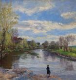 Adolf Glatte (1866 - 1920) » Öl-Gemälde Impressionismus Dachauer Künstlerkolonie süddeutsche Malerei