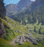 Georg Hermann Engelhardt (1855 - 1934) » Öl-Gemälde Naturalismus Alpen Landschaft