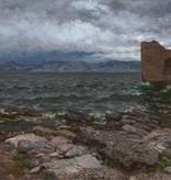 Julius Runge (1843 - 1922) » Öl-Gemälde Naturalismus Meer mediterrane Küstenlandschaft