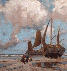Otto Ackermann (1872 - 1953) » Öl-Gemälde Meer holländische Küstenlandschaft Düsseldorfer Malerschule