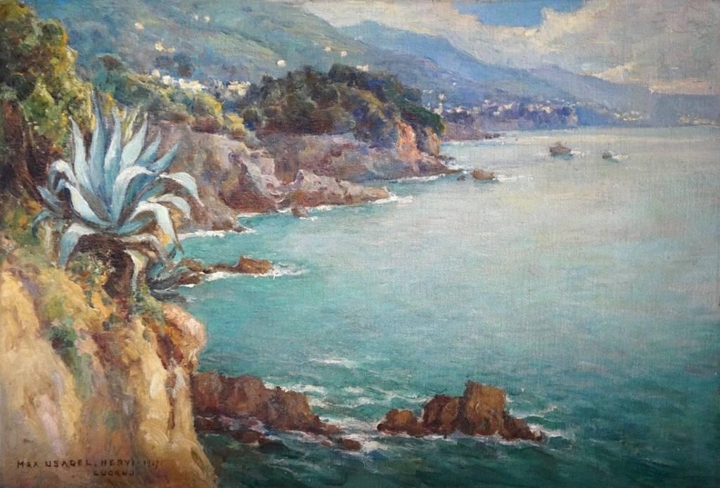 Max Usadel (1880 - 1952) » Öl-Gemälde Impressionismus italienische Landschaft
