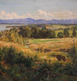 Alfred Thielemann (1883 - 1973) » Öl-Gemälde Münchner Maler Voralpenlandschaft süddeutsche Malerei