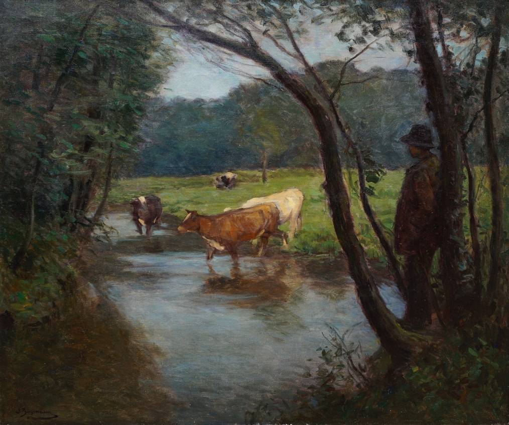 Julius Hugo Bergmann (1861 - 1940) » Öl-Gemälde Impressionismus