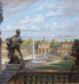 Rudolf Poeschmann (1878 - 1954) » Öl-Gemälde Impressionismus Schloss Stadtansicht Dresden