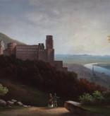 Ölgemälde Romantik Biedermeier Schloss Heidelberg um 1820