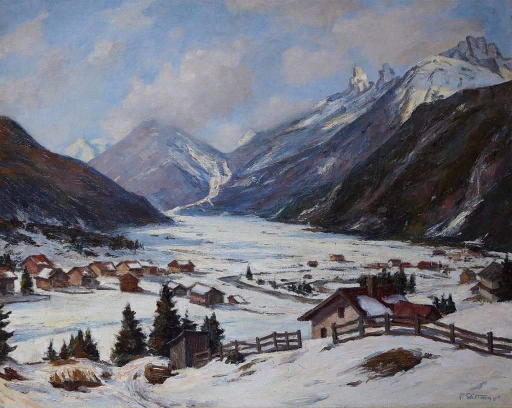 Felix Dittmar (1901 - ca. 1941) » Öl-Gemälde Alpen Landschaft