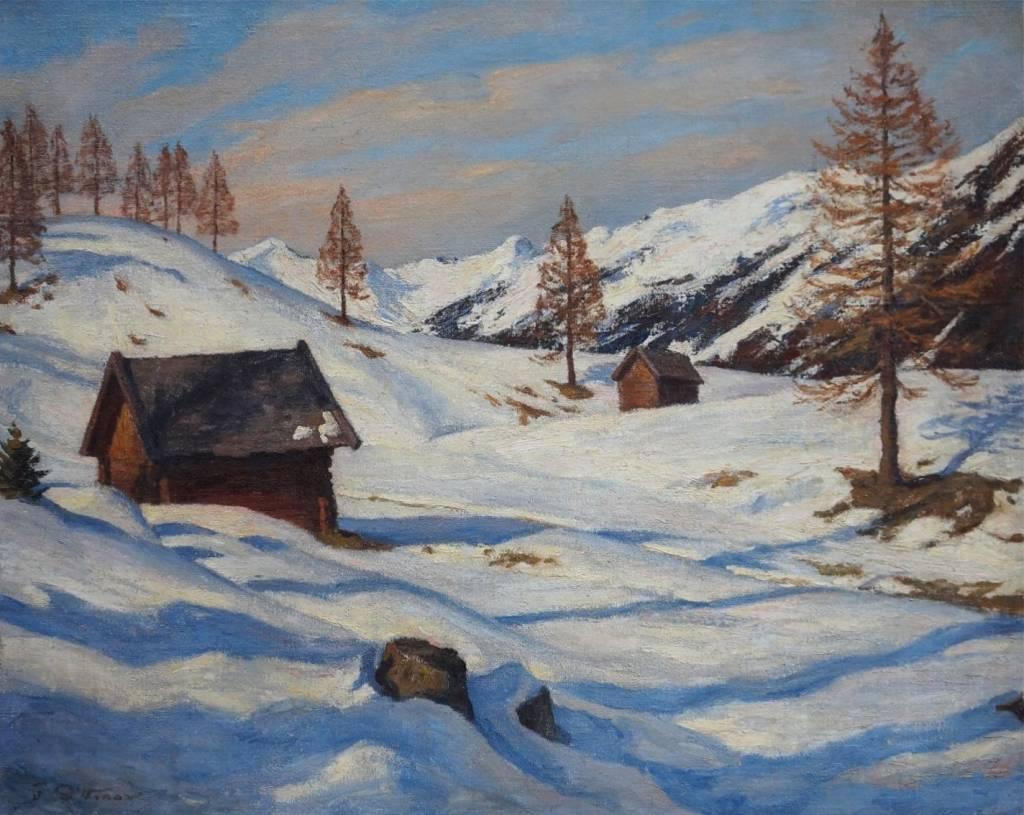 Felix Dittmar (1901 - ca. 1941) » Öl- Gemälde Winter Landschaft