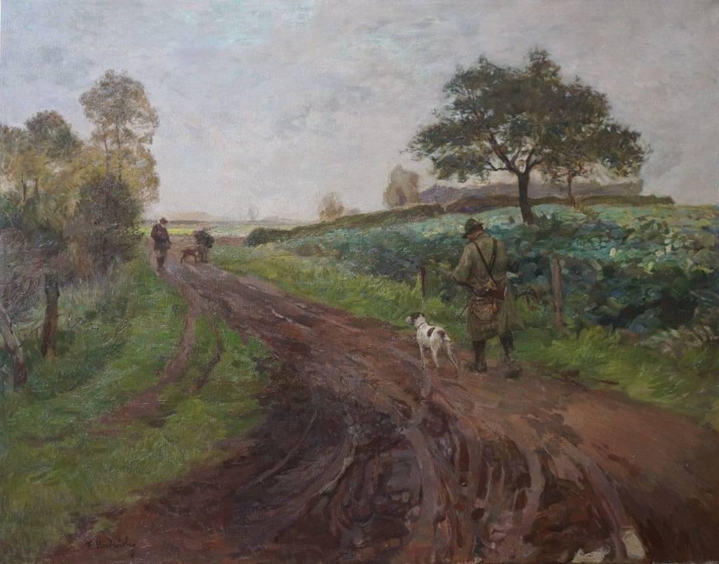 Franz Kiederich (1873 - 1953) » Öl-Gemälde Jagd Düsseldorfer Malerschule