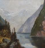 Eduard Büchler (1861 - 1958) » Öl-Gemälde Alpen Landschaft