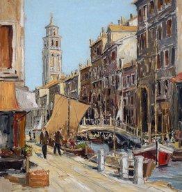 Peter Scheer (Maler des 20. Jahrhunderts) » Öl-Gemälde Spätimpressionismus italienische Stadtansicht Venedig