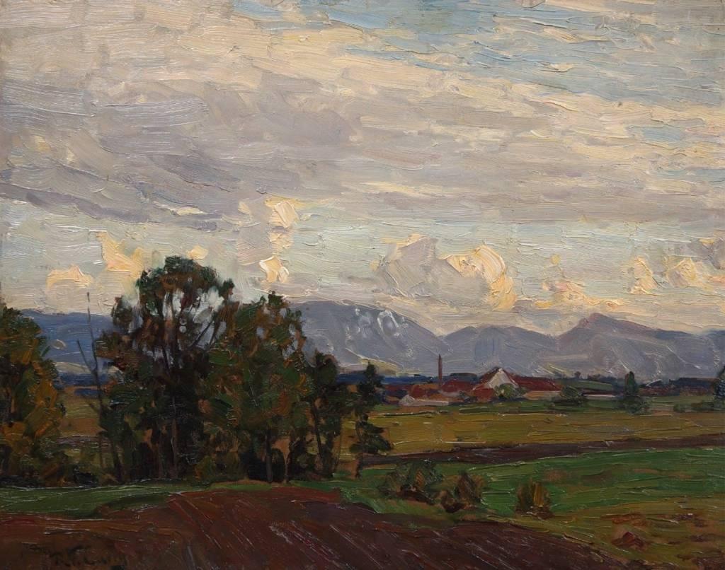 Robert Franz Curry (1872 - 1955) » Öl-Gemälde Impressionismus Münchner Malerschule