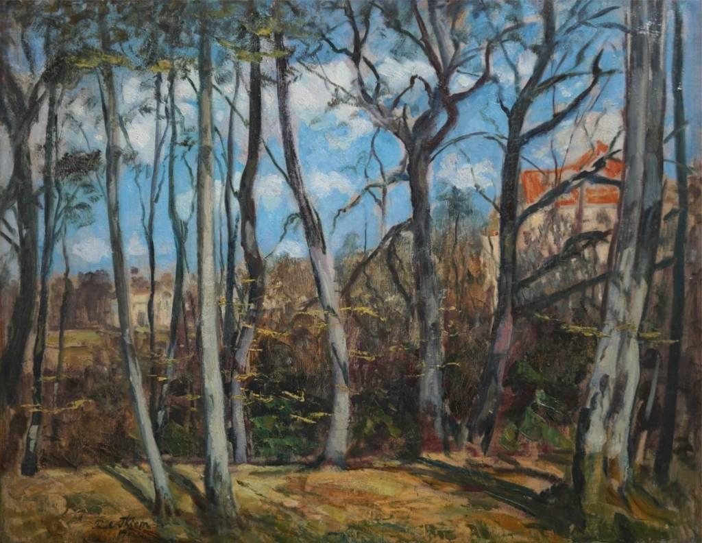 Paul Thiem  (1958 - 1922) » Öl-Gemälde Park Landschaft