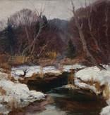 Ölgemälde Winter Landschaft Josef Rolf Knobloch (1891 - 1964)