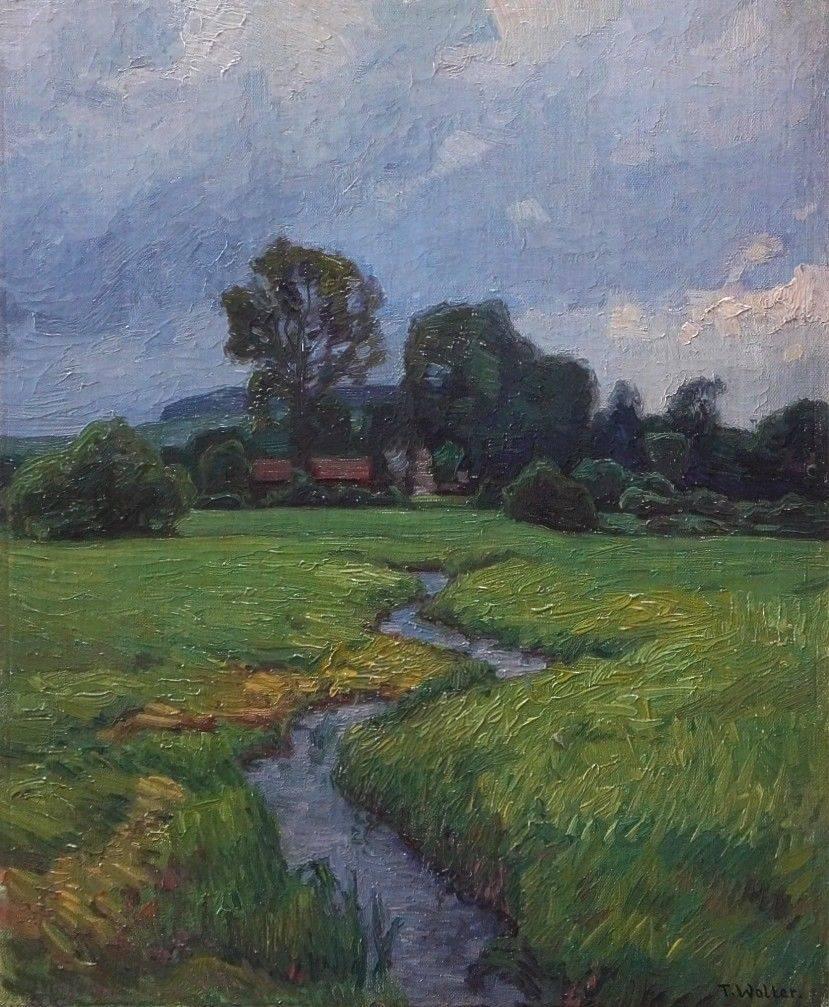 Toni Wolter (1875 - 1929) » Öl-Gemälde Impressionismus Landschaft