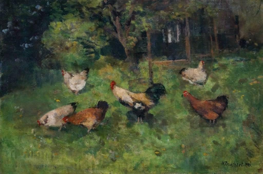 Heinrich Deuchert (1840 - 1923) » Öl-Gemälde Impressionismus