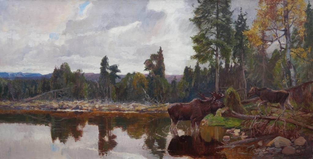 Ernst Otto (1866 - 1927) » Ölgemälde Tiermalerei