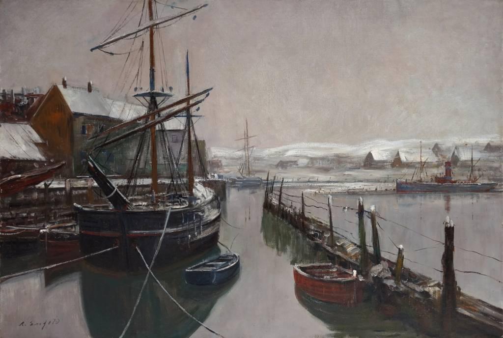 Alexander Essfeld (1874 - 1939)» Öl-Gemälde Marinemalerei
