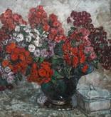 August von Brandis  (1859 - 1947) » Öl-Gemälde Impressionismus Blumenstillleben