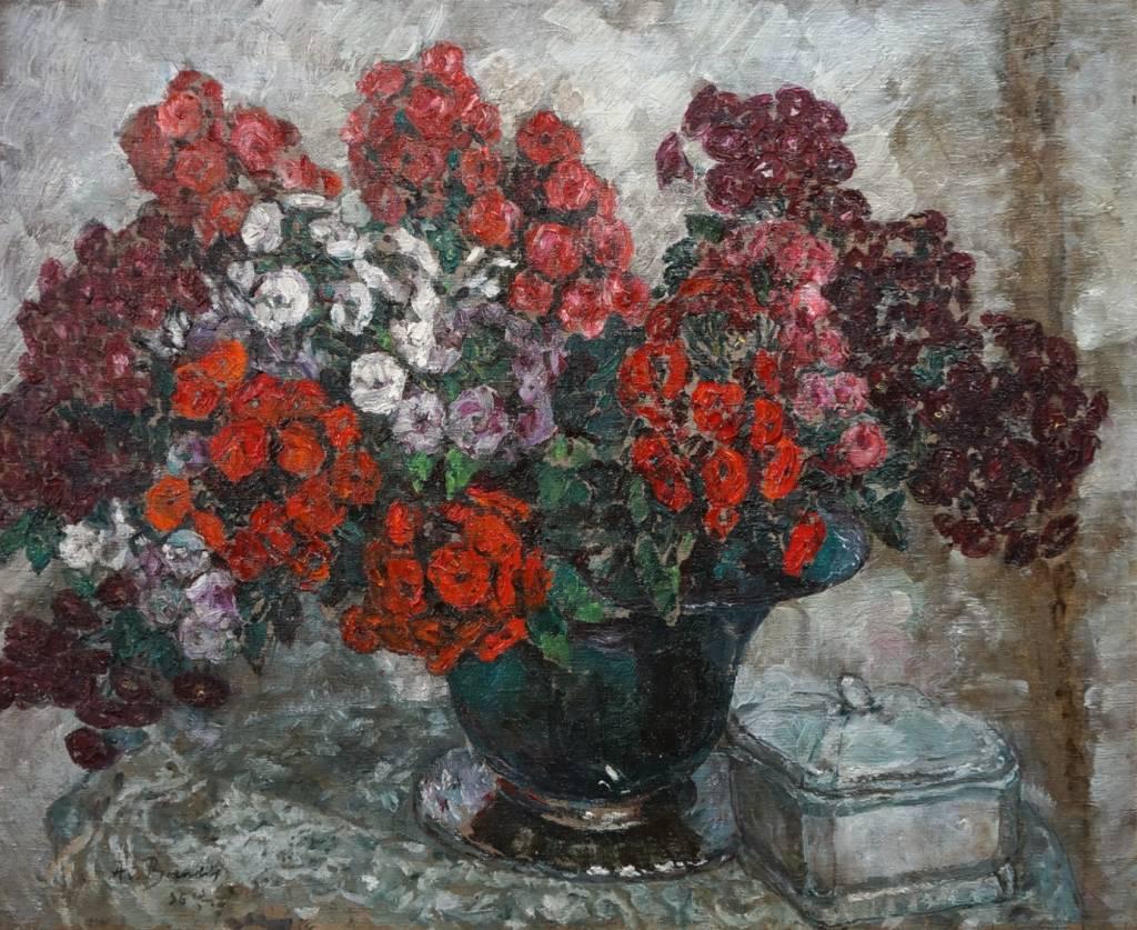August von Brandis  (1859 - 1947) » Öl-Gemälde Blumenstillleben