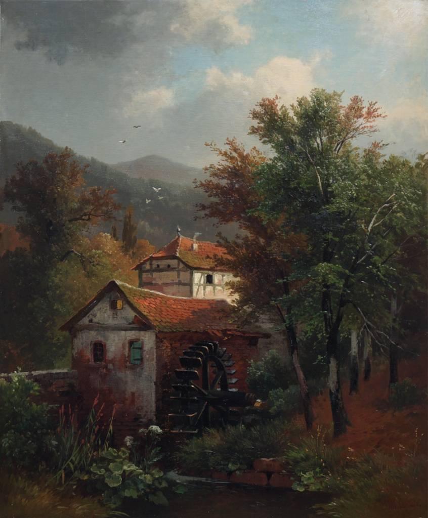 Friedrich Wilhelm Schreiner (1836 - 1922) » Öl-Gemälde Düsseldorfer Malerschule