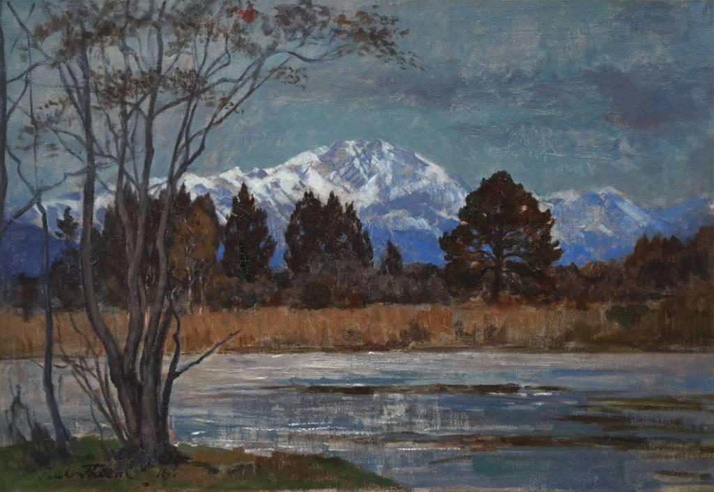 Paul Thiem  (1958 - 1922) » Öl-Gemälde Voralpenlandschaft