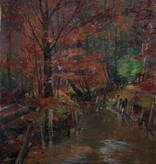 Hugo Degenhardt (1866 - 1901) » Öl-Gemälde Impressionismus Waldlandschaft