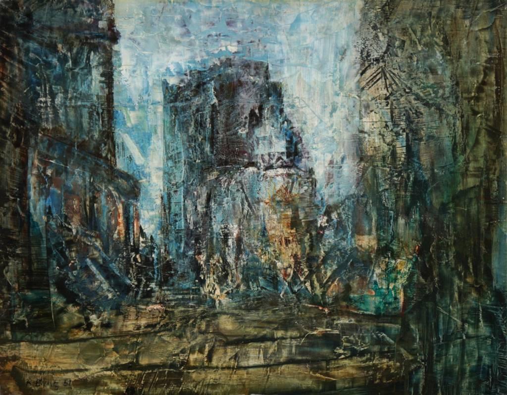Kurt Bentz (*1922) » Öl-Gemälde Klassische Moderne Nachkriegskunst