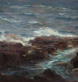 Nikolaus Davis (1883 - 1967) » Öl-Gemälde Meeresbrandung