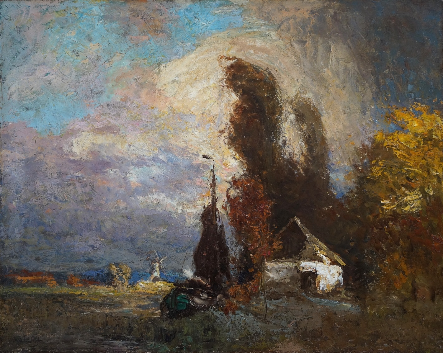Arthur Feudel (1857 - 1929) » Öl-Gemälde Impressionismus Landschaft