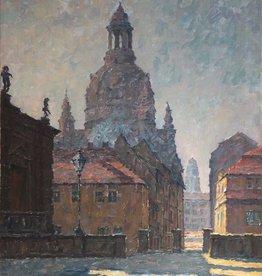 Albert Jahn-Heiligenstadt (1885 - 1961) » Öl-Gemälde Impressionismus Dresden Stadtansicht