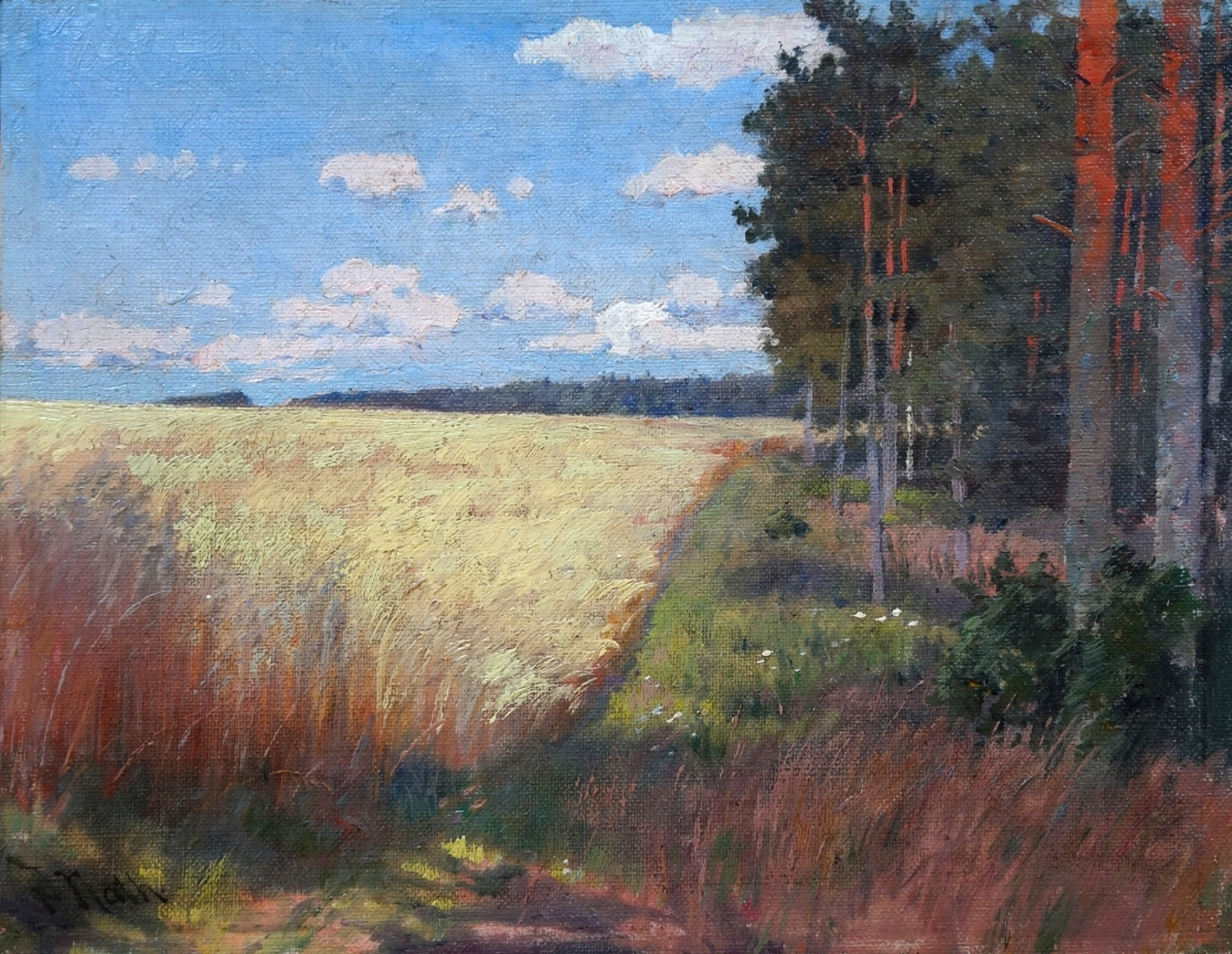 Friedrich Nath (1859 - 1925) » Öl-Gemälde Impressionismus Landschaft