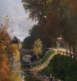 Charles Théodore Sauvageot (1826 - 1883) » Öl-Gemälde Schule von Barbizon