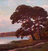 Carl Kenzler (1872 - 1947) » Öl-Gemälde Naturalismus Impressionismus Waldsee Landschaft Berliner Maler