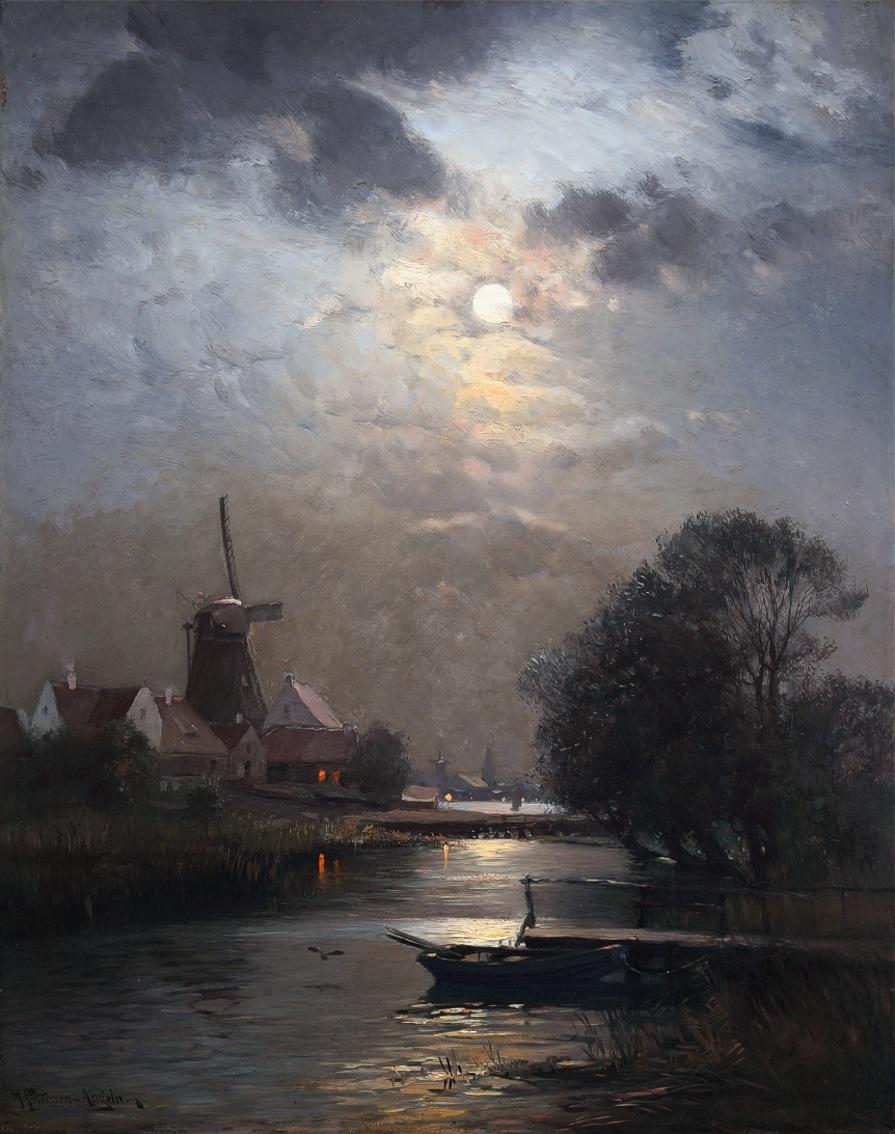 Heinrich Petersen-Angeln (1850 - 1906) » Öl-Gemälde Spätromantik Düsseldorfer Malerschule