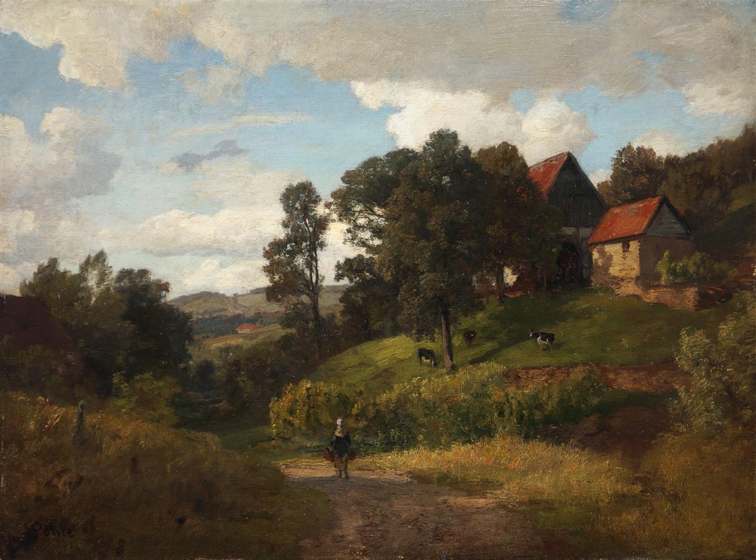 Hermann Pohle (1831 - 1901) » Öl-Gemälde Düsseldorfer Malerschule