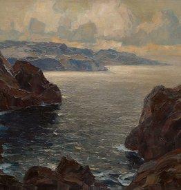 Erich Mercker (1891 - 1973) Öl-Gemälde Impressionismus Fjord Landschaft