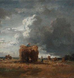 Fritz Halberg-Krauss (1874 - 1951)  » Öl-Gemälde Impressionismus Münchner Schule Ernte Landschaft
