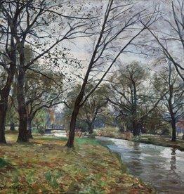 Otto Schulz-Stradtmann (1892-1960) » Öl-Gemälde Impressionismus Park Landschaft süddeutsche Malerei