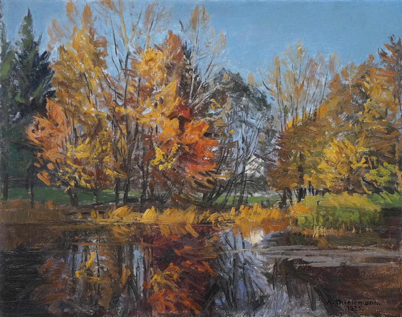 Alfred Thielemann (1883 - 1973) » Öl-Gemälde Münchner Maler Impressionismus süddeutsche Malerei