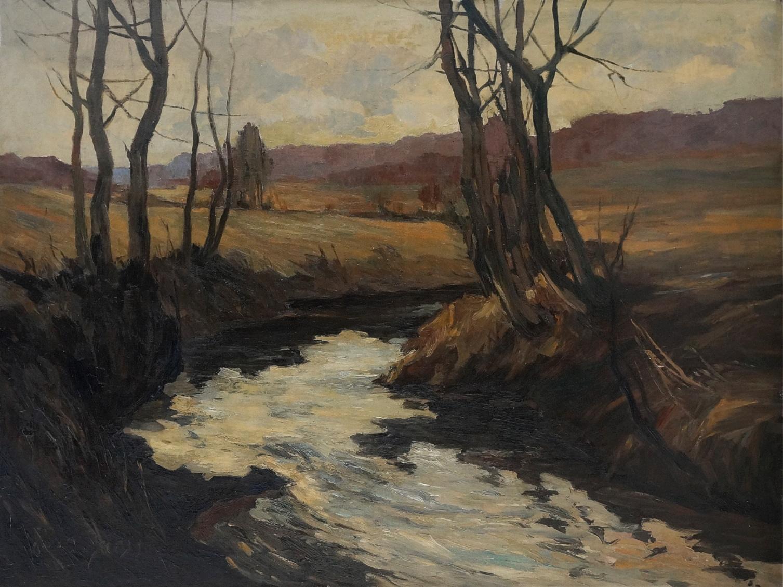 Gustav Jäger (1874 - 1957)  » Öl-Gemälde schwäbische Malerei Impressionismus Landschaft