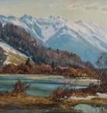 Paul Johann Walch (1881 - 1958) » Öl-Gemälde Impressionismus süddeutsche Malerei Voralpenlandschaft