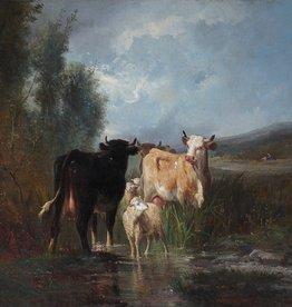 Antonio Cortés  Cordero (1827 - 1908) zugeschr. » Öl-Gemälde Tiermalerei