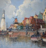 eorg Fischhof (1849-1914) » Öl-Gemälde Meer Küstenlandschaft Wiener Maler österreichische Schule