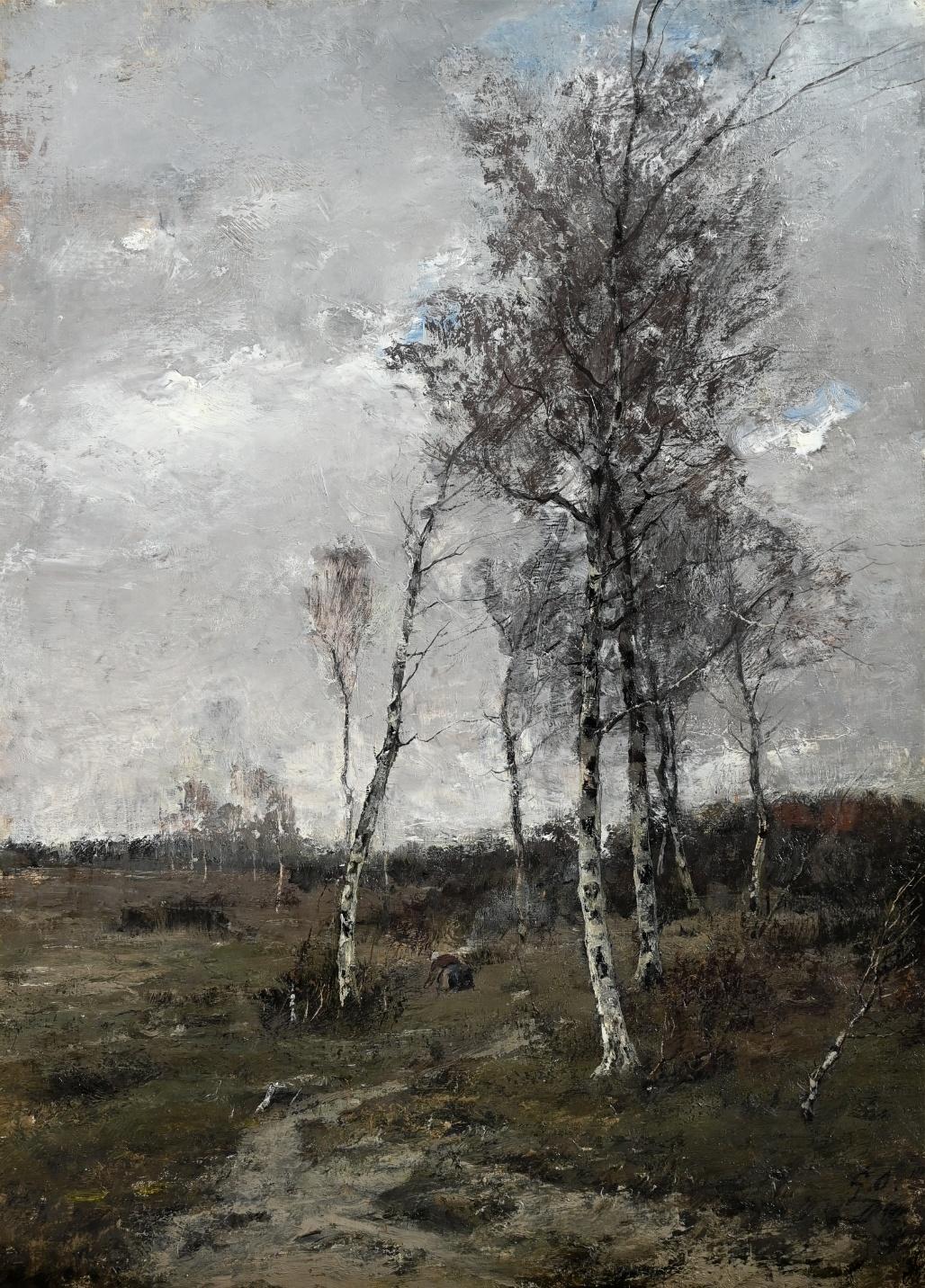 Georg Oeder (1846 - 1931) » Öl-Gemälde Landschaft Düsseldorfer Malerschule