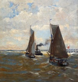 Erwin Günter (Günther) (1864 - 1927) » Öl-Gemälde Düsseldorfer Malerschule Meer