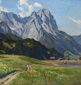 Erwin Kettemann (1897 - 1971) » Öl-Gemälde Impressionismus Alpenlandschaft