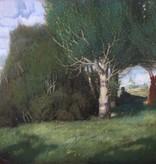 August Falcke (1872 - 1930) » Öl-Gemälde Jugendstil Landschaft