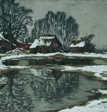 Alfred Rasenberger (1885 - 1948) » Öl-Gemälde Impressionismus Düsseldorfer Malerschule Winter Landschaft
