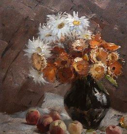 Franz Marx (1889 - 1960) » Öl-Gemälde Spät-Impressionismus Blumen Obst Stillleben